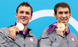 Phelps and Lochte